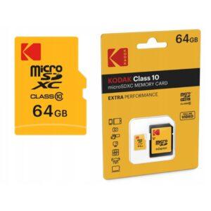 Kodak Class 10 microSDHC Memory Caed Extra Perfomance 64GB2-1000×1000